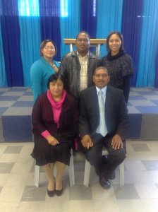 Back row.. MERCEHELLE BARNES, PS DUNCAN BARNES, ELISE BARNES Front.. PS LILLIAN AND AP JOHN BARNES HARVEST .. CAPE TOWN